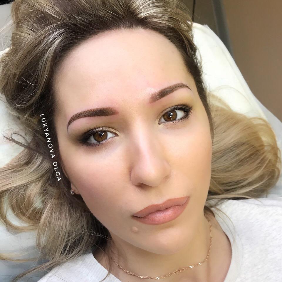 перманентный макияж в теневой технике